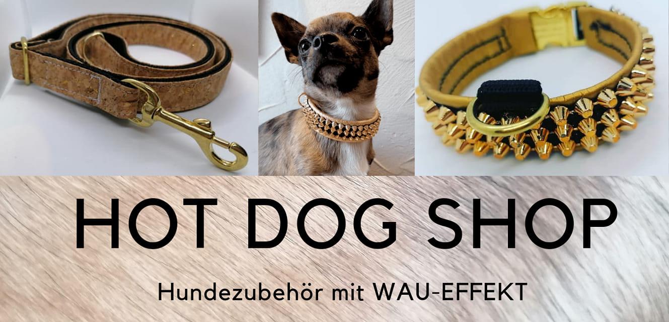 Hot Dog Shop Ihre Top- Adresse für Hundezubehör, Hundehalsbänder, Geschirre & Leinen-Logo