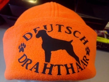 Fleecemütze orange Deutsch Drahthaar