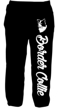 Jogginghose/ Jog Pants schwarz Border Collie
